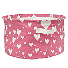 Pink Love Struck Organic Floor Bin