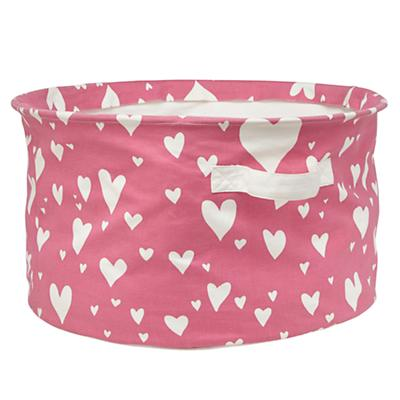 Love Struck Organic Floor Bin (Pink)