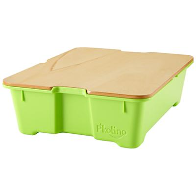 Green Write Side Up Storage Bin