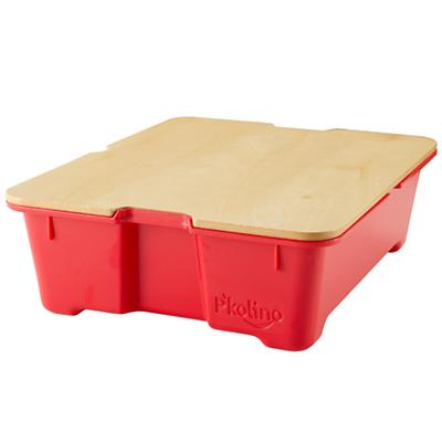 Red Write Side Up Storage Bin