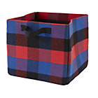Red Buffalo Check Cube Bin