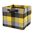 Yellow Buffalo Check Cube Bin