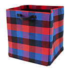 Red Buffalo Check Floor Bin