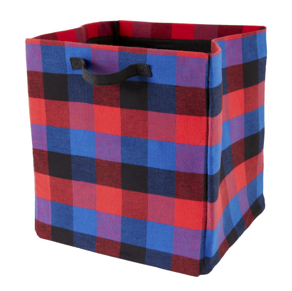 Buffalo Check Floor Bin (Red)