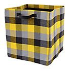Yellow Buffalo Check Floor Bin