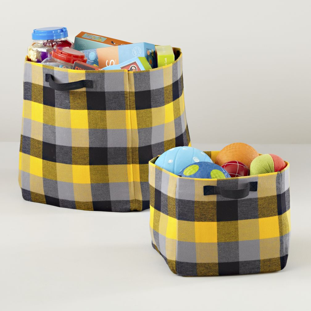 Buffalo Check Storage Collection (Yellow)