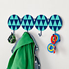 Blue In Shapes Wall Hooks