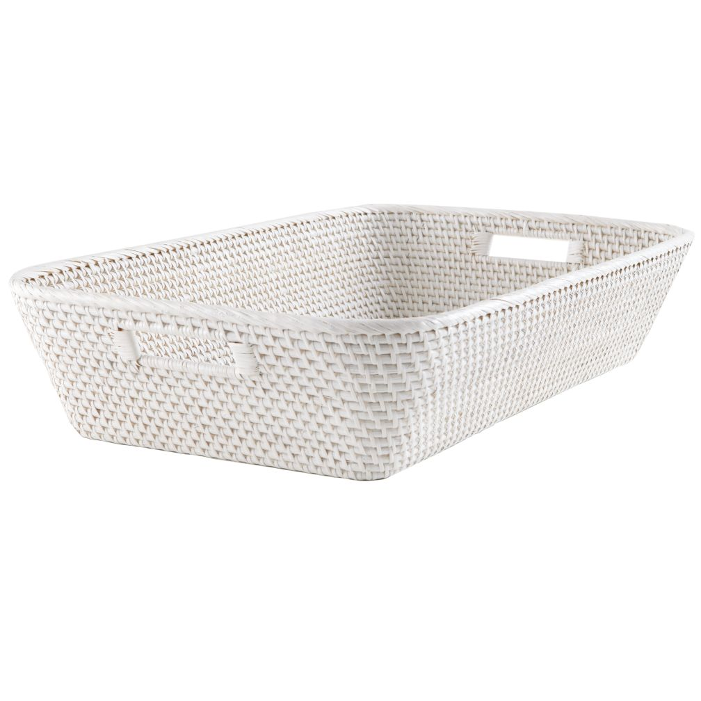 Rattan Changer Basket (White)
