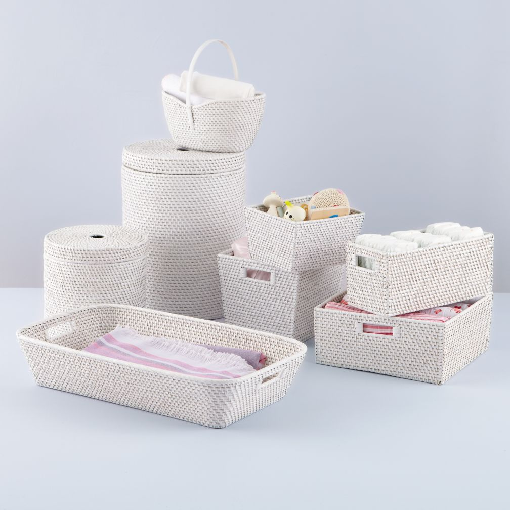 White Rattan I Am Storage Collection