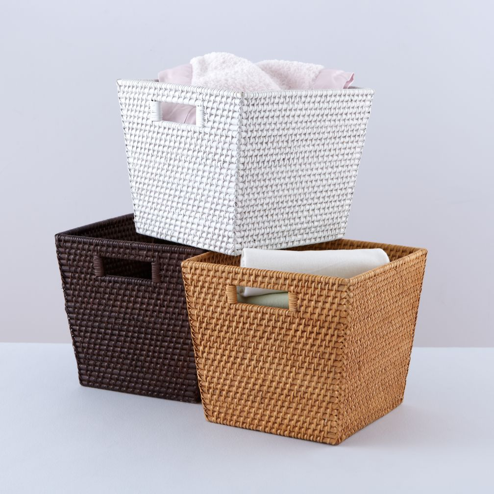 Rattan I Am Cube Basket