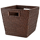 Espresso Rattan Cube Basket