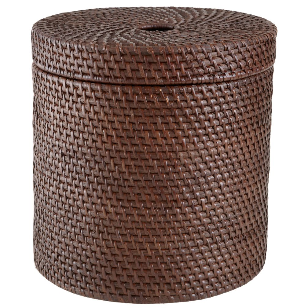 Rattan Round Floor Basket (Espresso)