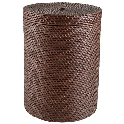 Rattan Hamper with Lid (Espresso)