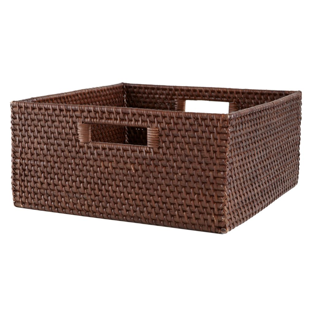 Rattan Large Changer Basket (Espresso)