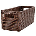 Espresso Rattan Small Changer Basket