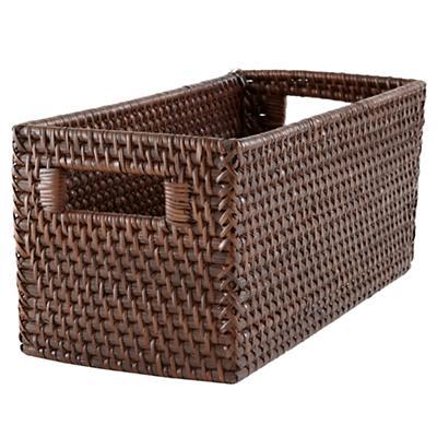 Rattan Small Changer Basket (Espresso)