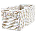 White Rattan Small Changer Basket