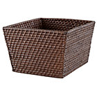 Espresso Rattan Shelf Basket