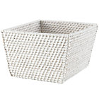 White Rattan Shelf Basket