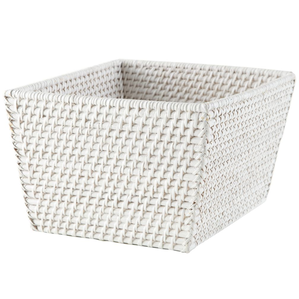 Rattan Shelf Basket (White)