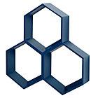 Blue Honeycomb Shelf