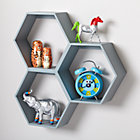 Grey Honeycomb Shelf