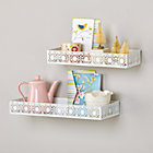 Set of 2 White Chantilly Shelves