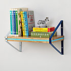 Blue Tricolor Metal Wall Shelf