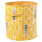 Yellow Chevron Floor Bin