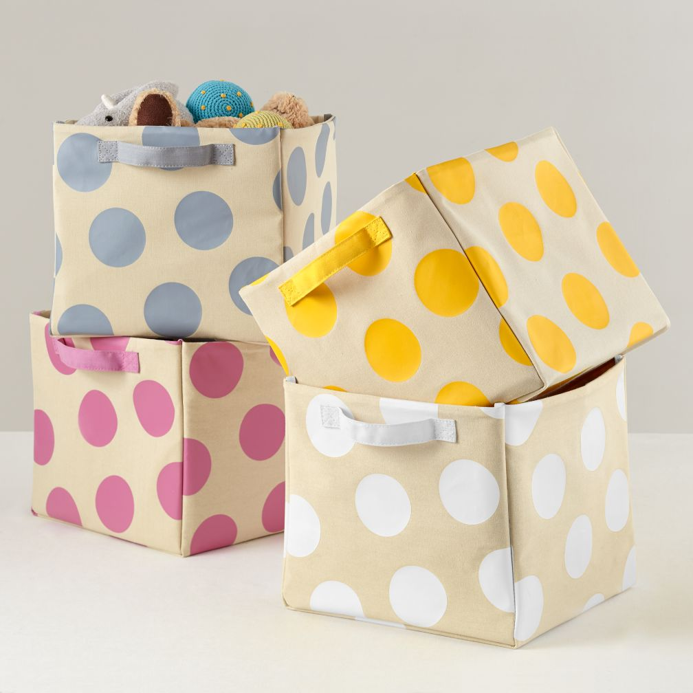 Dotted Cube Bin