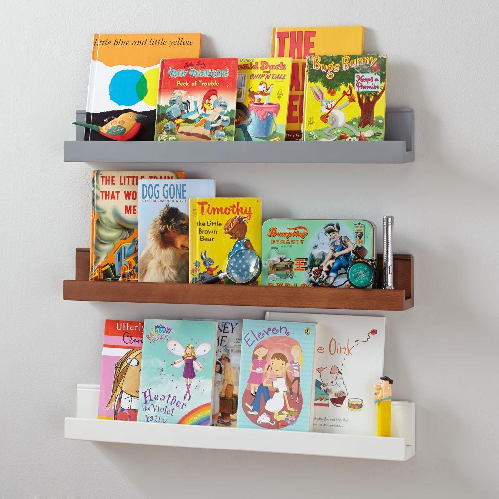 Kids shelves wall shelves the land of nod for Book shelves for wall
