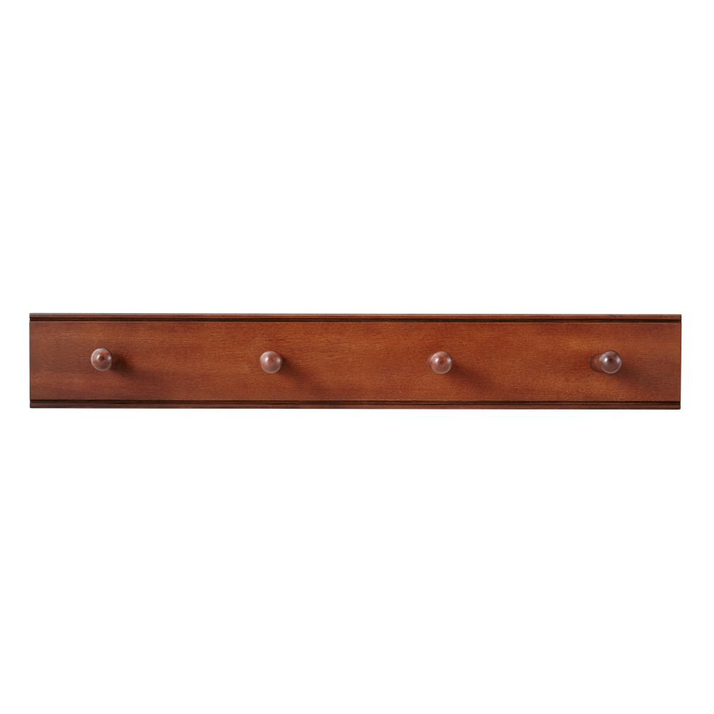Straight & Narrow Peg Rail (Walnut)