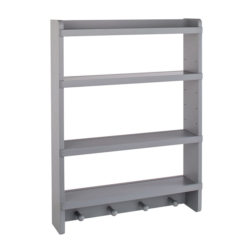 Grey Straight & Narrow Wall Rack