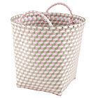Large Pink Strapped for Storage Bin