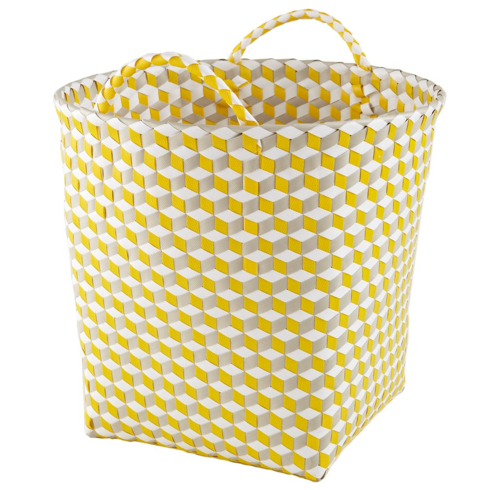 Large Strapped for Storage Bin (Yellow)