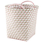 Medium Pink Strapped for Storage Bin