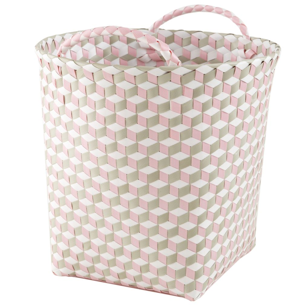 Medium Strapped for Storage Bin (Pink)