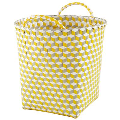 Medium Strapped for Storage Bin (Yellow)
