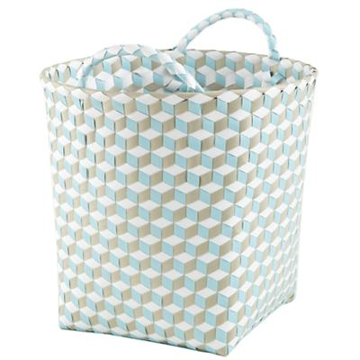 Small Strapped for Storage Bin (Blue)