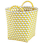 Small Yellow Strapped for Storage Bin
