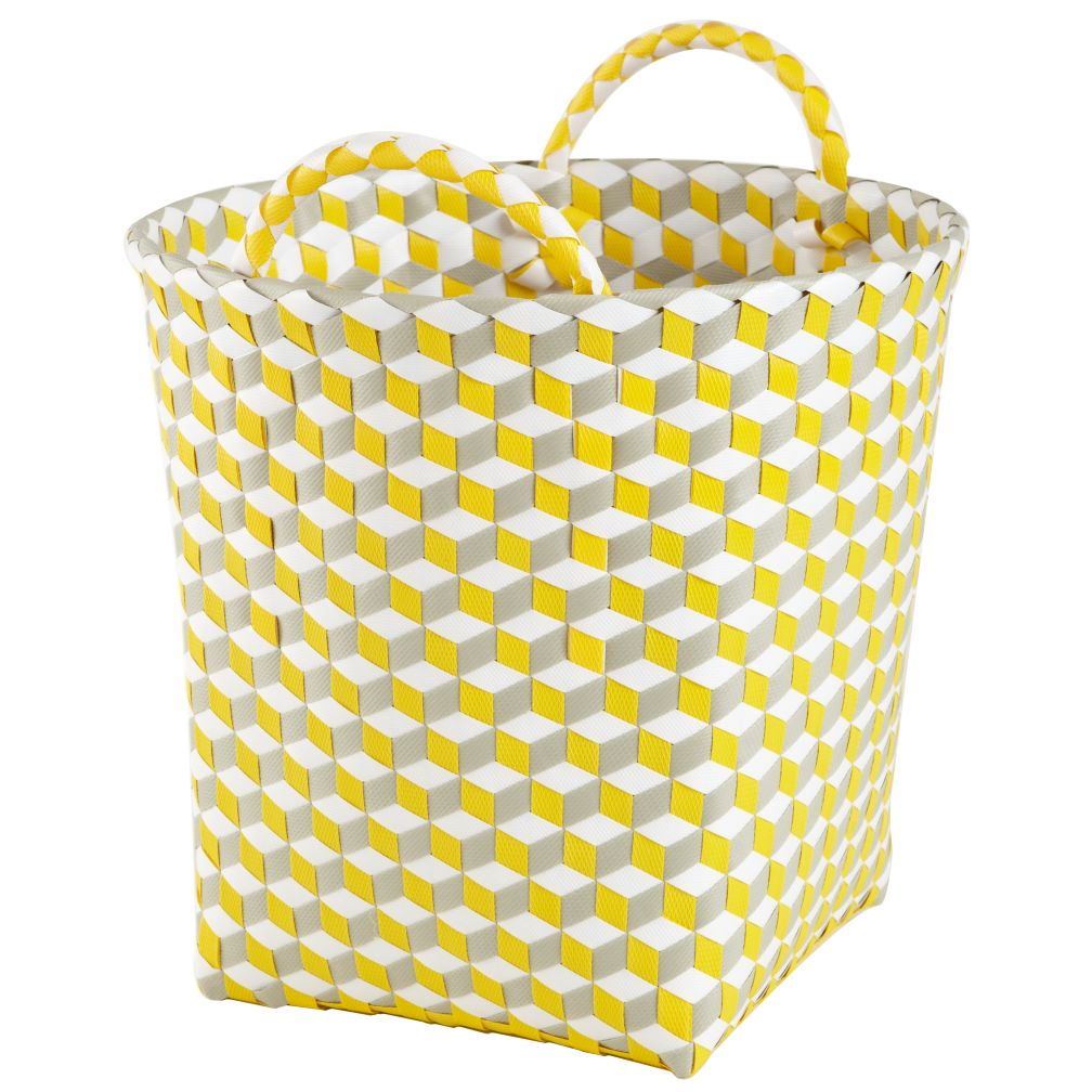 Small Strapped for Storage Bin (Yellow)