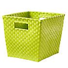 Lime Green Cube Bin