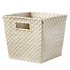 Khaki Cube Bin