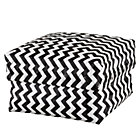Large Black Zig Zag Basket