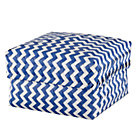 Large Blue Zig Zag Basket