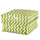 Large Green Zig Zag Basket