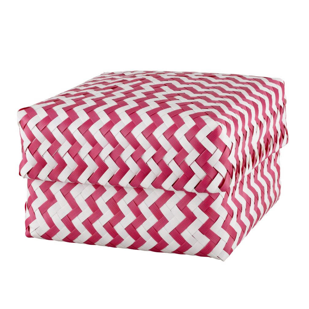 Large Zig Zag Basket (Pink)