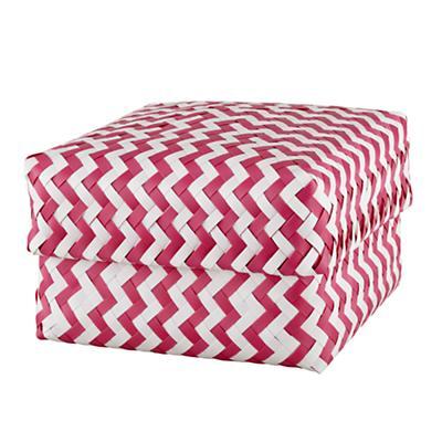 Large Zig Zag Basket (Pink)