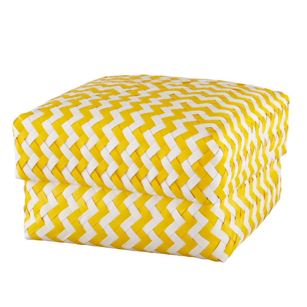 Large Zig Zag Basket (Yellow)