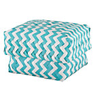 Medium Aqua Zig Zag Basket